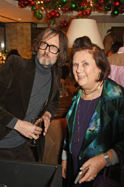Jarvis Cocker and Suzy Menkes