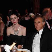 Coco Rocha and Christoph Waltz