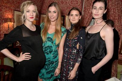 Portia Freeman, Amber Le Bon, Charlotte Rey and Erin O'Connor