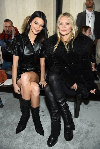 Kendall Jenner and Kate Moss attend Longchamp