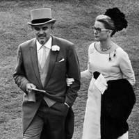 Prince Rainier and Princess Grace of Monaco in the paddock, Royal Ascot, 1966