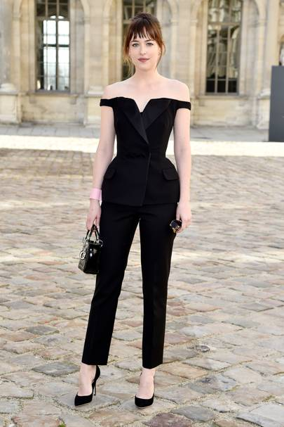 Wearing Dior at the Dior show, 2015.