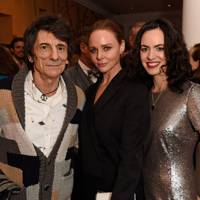 Ronnie Wood, Stella McCartney and Sally Wood