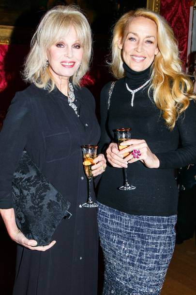 Joanna Lumley and Jerry Hall