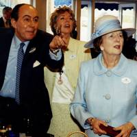 Aziz Radwan, Mrs David Metcalfe and Baroness Thatcher