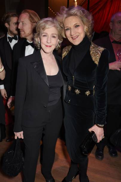 Patricia Hodge and Baroness Shackleton