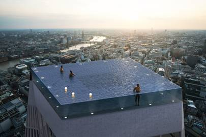 If James Bond did pools – the 200m sky high blue jewel that is set for London