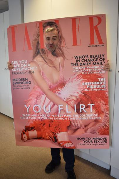 Patrick Foilleret as a Tatler Cover Girl