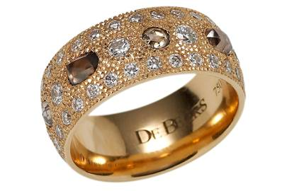 Pink-gold & diamond ring, £7,700, by De Beers