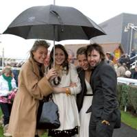Olivia Buckingham, Camilla Stopford Sackville, Katie Wyvill and James Blunt
