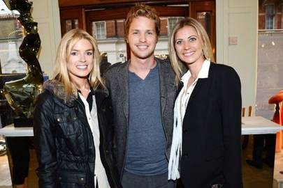 Isabella Anstruther-Gough-Calthorpe, Sam Branson and Holly Branson