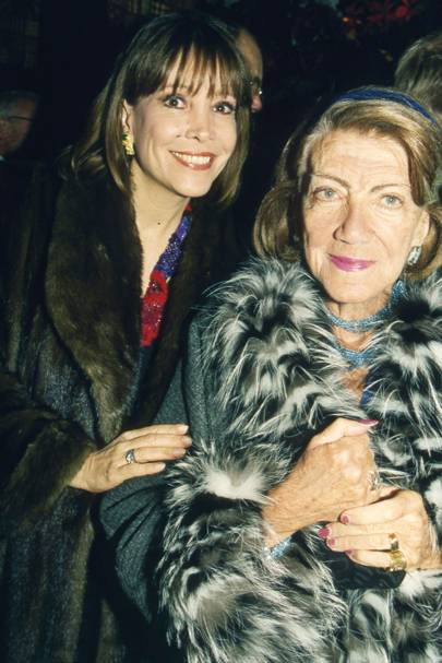 Mrs Herbert Kretzmer and Mrs Halina Szpiro