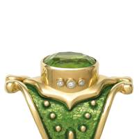 Peridot and gold ring, POA, Elizabeth Gage