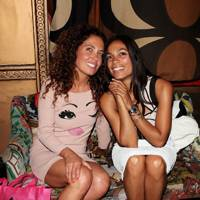 Tara Smith and Rosario Dawson