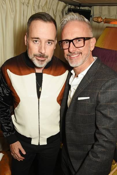 David Furnish and Patrick Cox