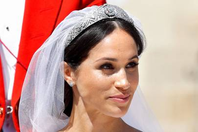Queen Mary's Bandeau Tiara and Cartier earrings