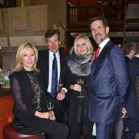 Crown Princess Marie-Chantal of Greece, Hugh Morrison, Amanda Wakeley and Crown Prince Pavlos of Greece