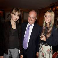 Edie Campbell, Nicholas Coleridge and Olympia Campbell
