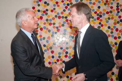 Larry Gagosian and Sir Nicholas Serota