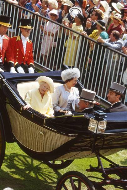 The Queen Mother, Princess Margaret, Lord Nicholas Gordon Lennox and the Earl of Verulam