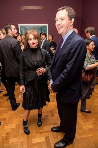 George Osborne and Helena Bonham Carter
