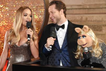 Rita Ora, Derek Blasberg and Miss Piggy