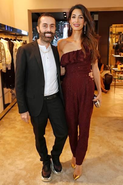 Giambattista Valli and Amal Clooney