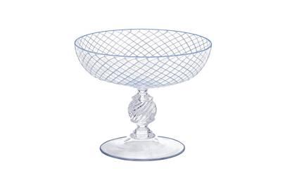Glass champagne saucer