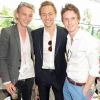 Jamie Campbell Bower, Tom Hiddleston and Eddie Redmayne