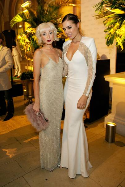 Helen George and Amber Le Bon