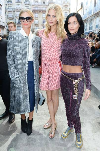 Laura Bailey, Poppy Delevingne and Leigh Lezark