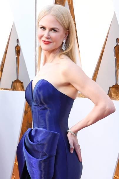 Nicole Kidman in Harry Winston at the Oscars