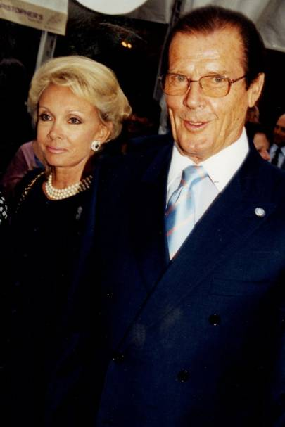 Kiki Tholstrup and Roger Moore