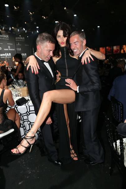 Dean Caten, Isabeli Fontana and Dan Caten