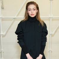 Gigi Hadid attends the Wardrobe NYC concept store opening