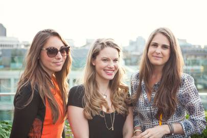 Natalie Keigher, Jessica Palmer-Tomkinson and Rose Mann