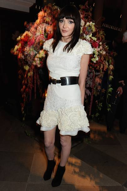 2013: At an Alexander McQueen dinner at Frieze Art Fair