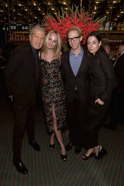 Mario Testino, Lauren Santo Domingo, Jan Olesen and Mary McCartney