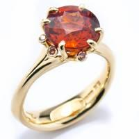 Garnet, diamond and gold ring, £6,200, Jon Dibben