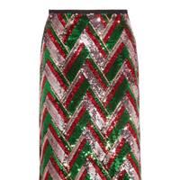 Gucci sequin skirt