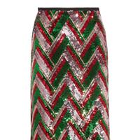 Gucci sequin skirt