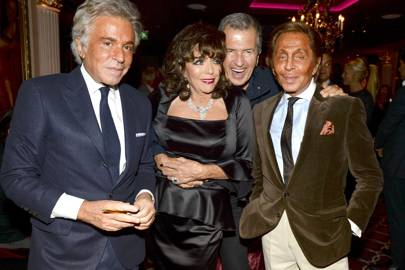Giancarlo Giammetti, Joan Collins, Mario Testino and Valentino Garavani