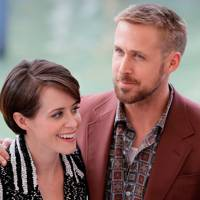 Claire Foy and Ryan Gosling at the First Man photocall