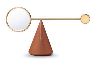 Brass & calfskin magnifying glass