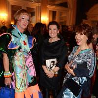 Grayson Perry, Olivia Colman and  Kathy Lette