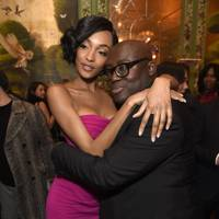 Jourdan Dunn and Edward Enninful