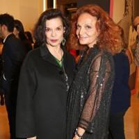 Bianca Jagger and Diane von Furstenberg