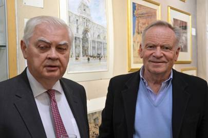 Lord Lamont and Jeffrey Archer
