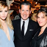 Suki Waterhouse, Stefano Tonchi and Tracey Emin