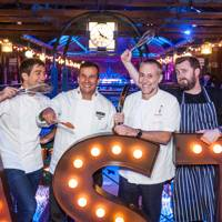 Ben Tish, Martin Morales, Michel Roux Jr and Scott Halsworth